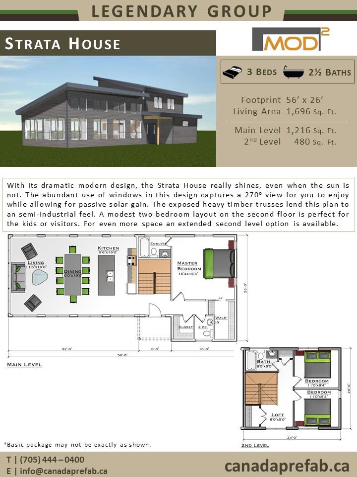 Modern Prefab Home Strata Modern Home Plans Modern Prefab Home Designs Canadaprefab Ca On Modern Prefab