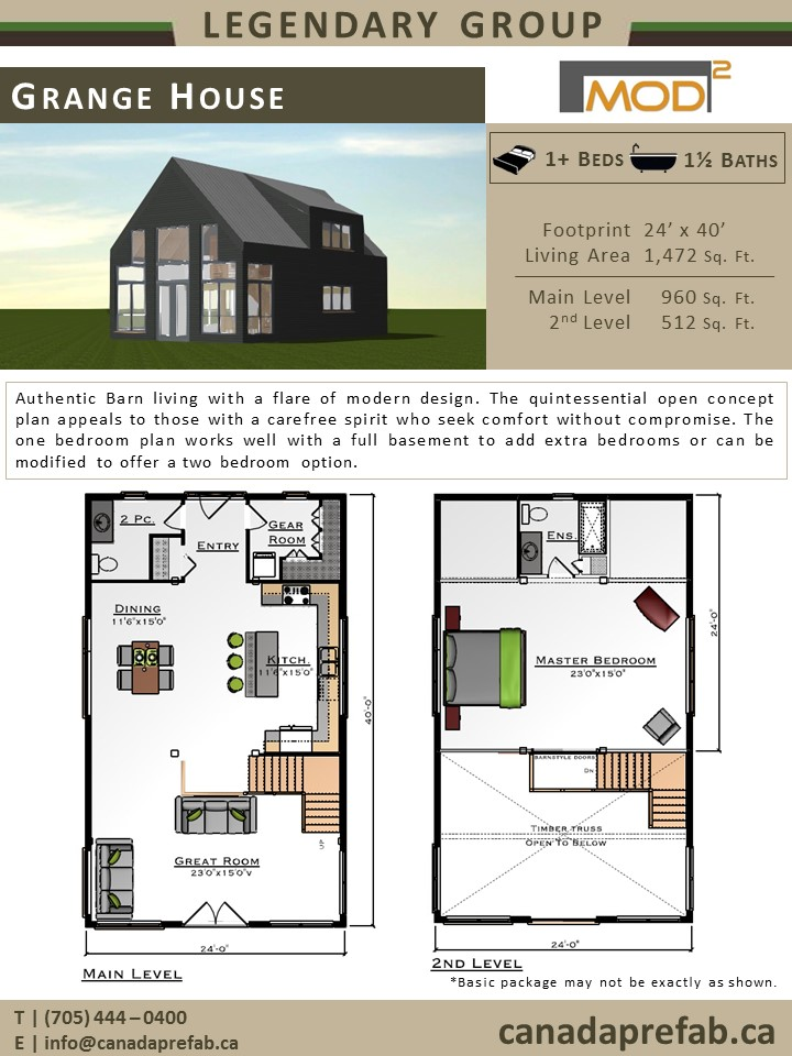 Modern home plans modern prefab home designs for Modern barn house floor plans