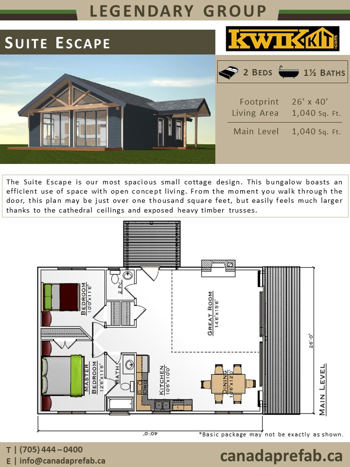 Bunkie floor plans thefloors co for Cottage floor plans ontario